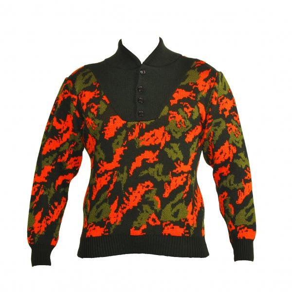 Στρατιωτική μπλούζα πουλόβερ παραλλαγής πορτοκαλί