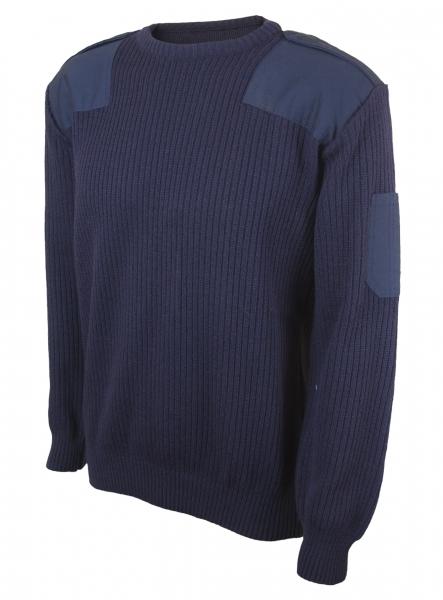 Πουλόβερ λιμενικού μπλε σκούρο λαιμόκοψη